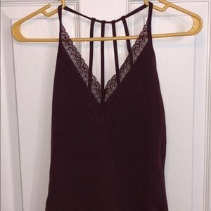 A&F, maroon body suit